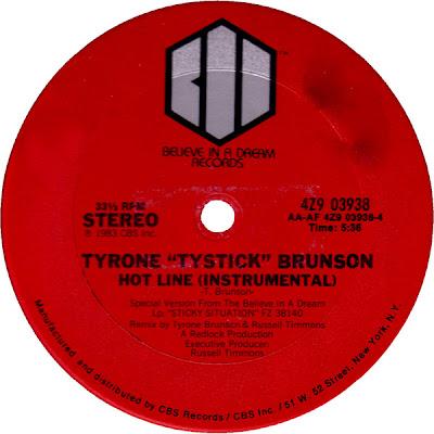 "Tyrone ""Tystick"" Brunson – Hot Line (1983, VLS, 320)"