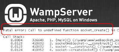 Fatal error: Call to undefined function socket_create() for WAMPServer