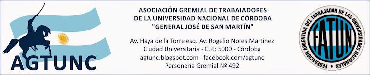 Gremial San Martín - AGTUNC - Nodocentes UNC - No docentes UNC