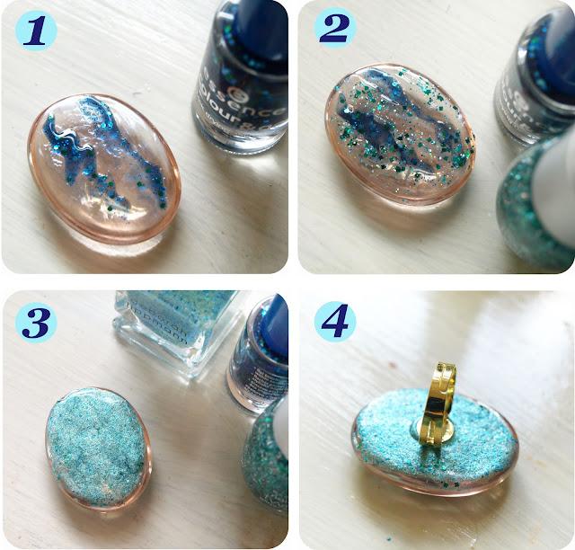 The Black Pearl Blog Uk Beauty Fashion And Lifestyle Diy How To Make A Galaxy Nail Polish Ring