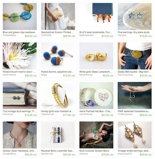 Sunnier days gift guide on Etsy #gold #blue #gifts