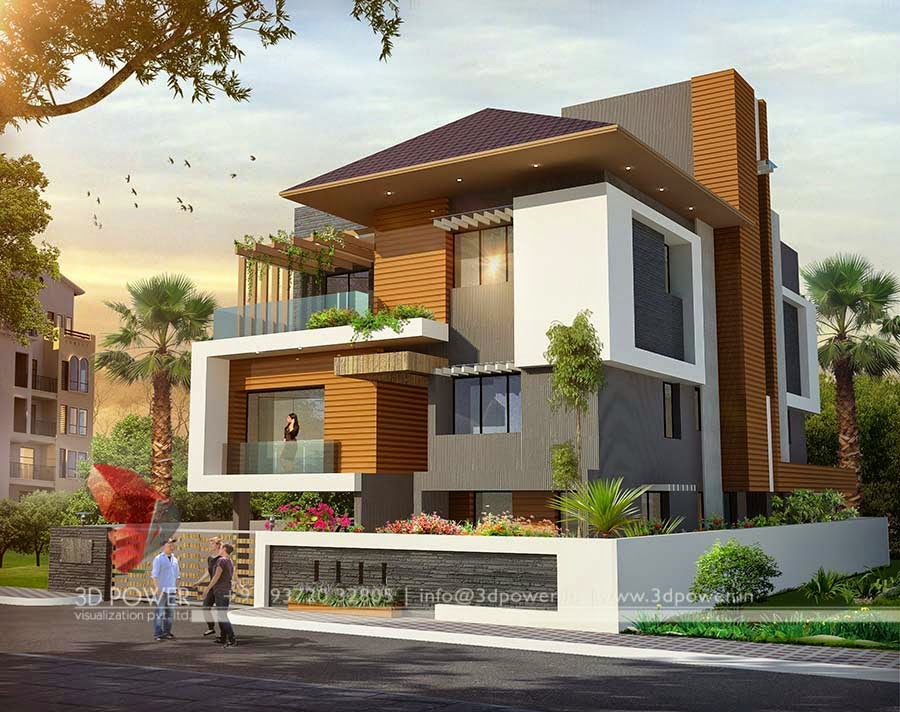 Ultra modern home designs home designs home exterior for Modern bungalow elevation
