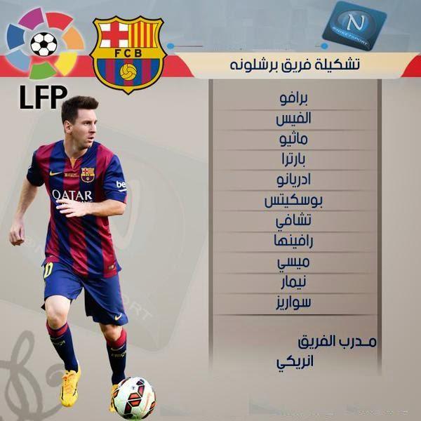 تشكيلة مباراة برشلونة و خيتافي الليلة + روابط نقل المباراة + القنوات الناقلة