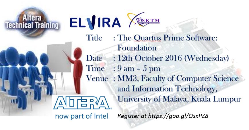 the quartus prime software foundation (pro edition) (online training)