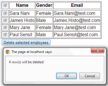 Check uncheck all checkboxes using jquery
