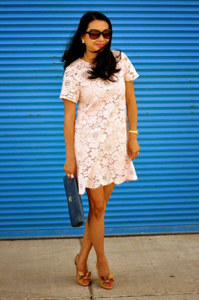 BCBG Pink Lace Dress