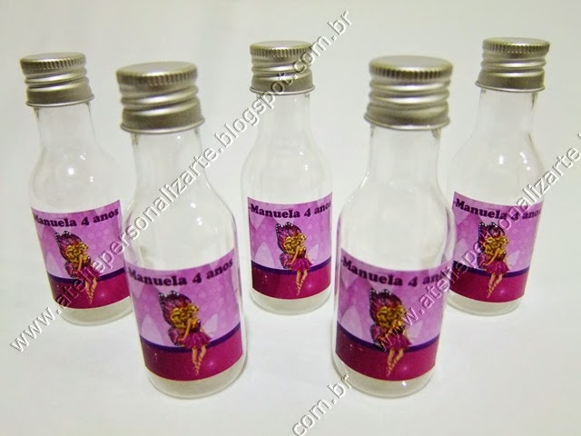 Lembrancinhas Personalizadas Barbie Butterfly - Garrafinhas