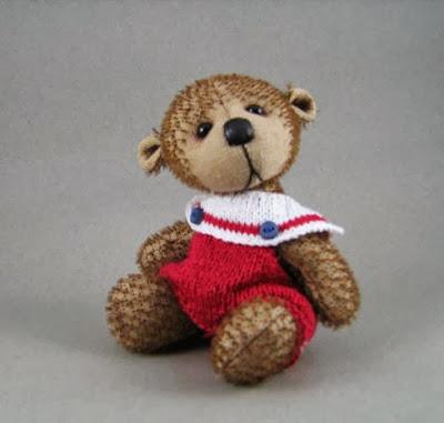 mohair bear, sailor bear
