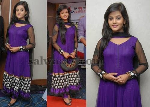 Dhupian Silk Purple Churidar