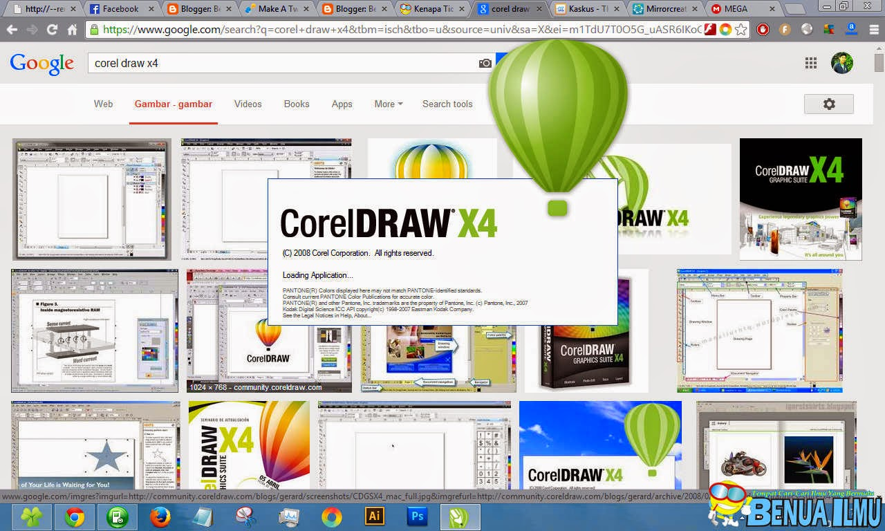 Membuka Aplikasi Corel Draw