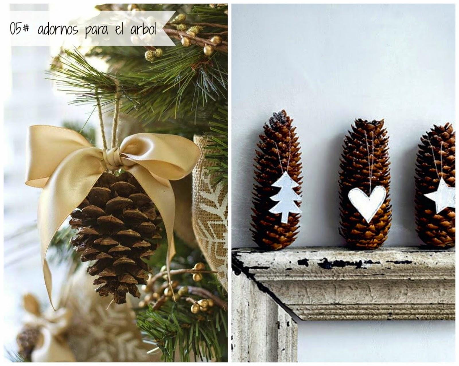 100 tonos de verde buscando inspiracion 5 ideas para - Decoracion navidena con pinas ...