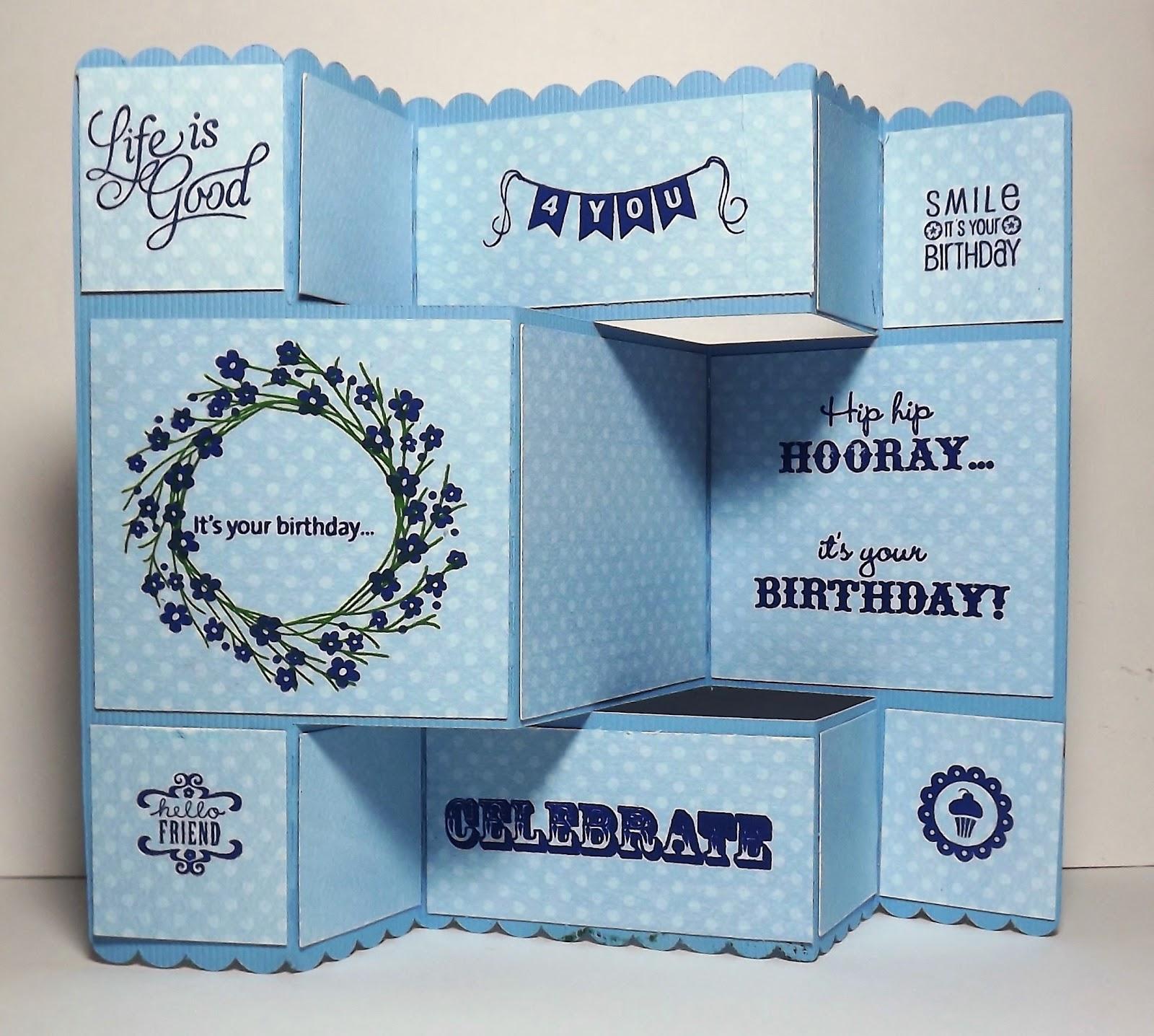 Busy with the Cricky: Tri-fold Birthday Card