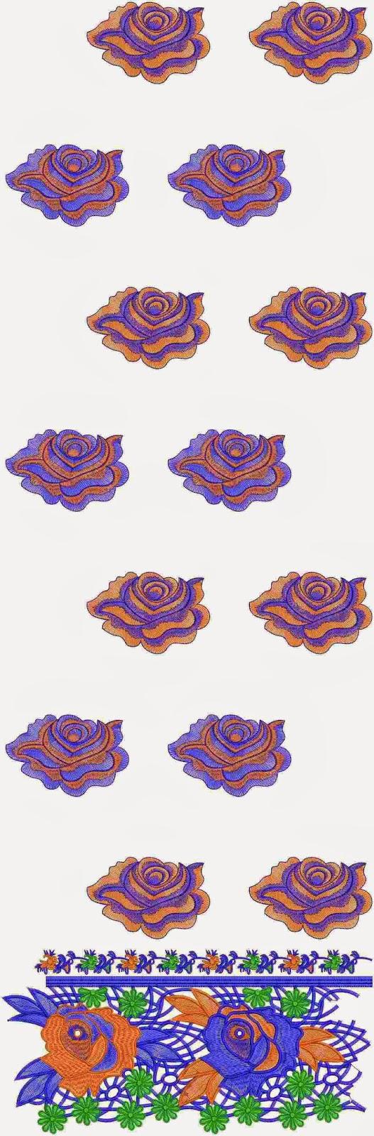 digitalisering borduurwerk Kurti