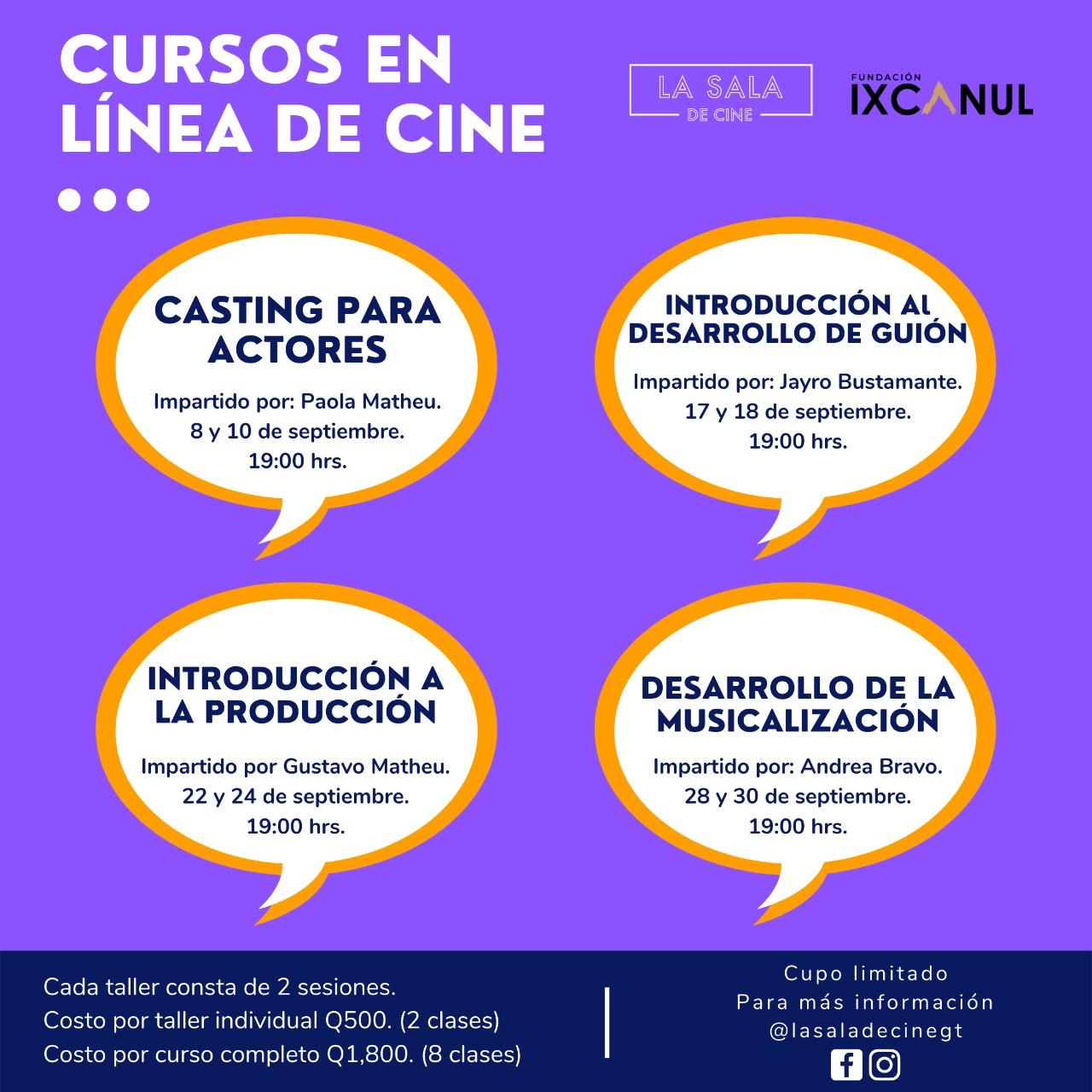 ESTUDIA CINE CON LA SALA DE CINE
