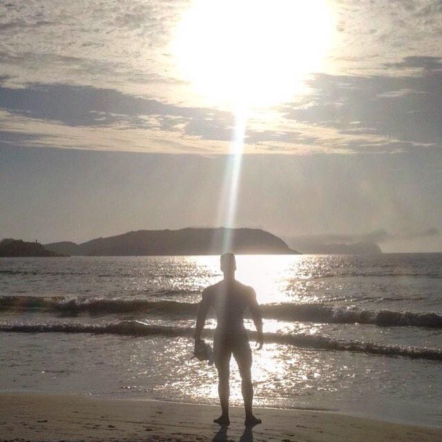 Após um ano de competições, Matheus Nery passa as férias em Cabo Frio. Foto: Arquivo pessoal
