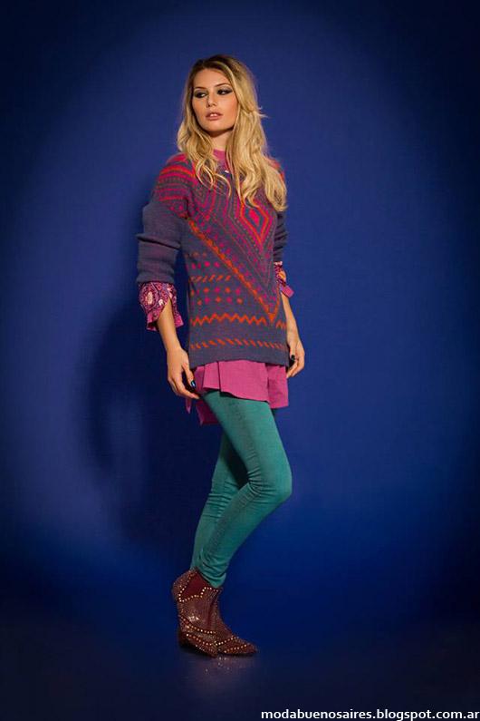 Sophya sweaters otoño invierno 2014. Moda invierno 2014.