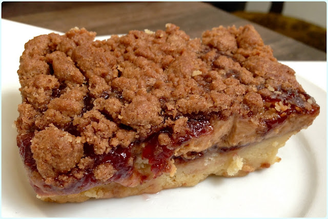 Bea's of Bloomsbury, London - Peanut Butter and Jelly Slice