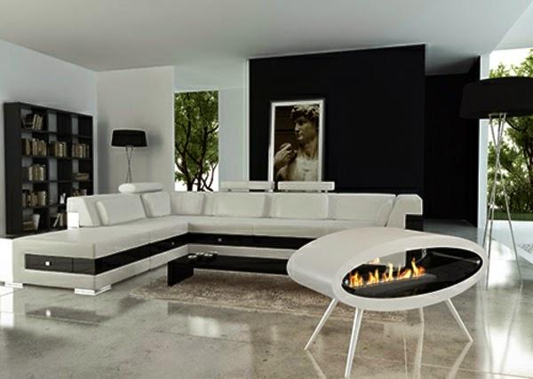 Salas decoradas con chimenea salas con estilo for Salas minimalistas modernas