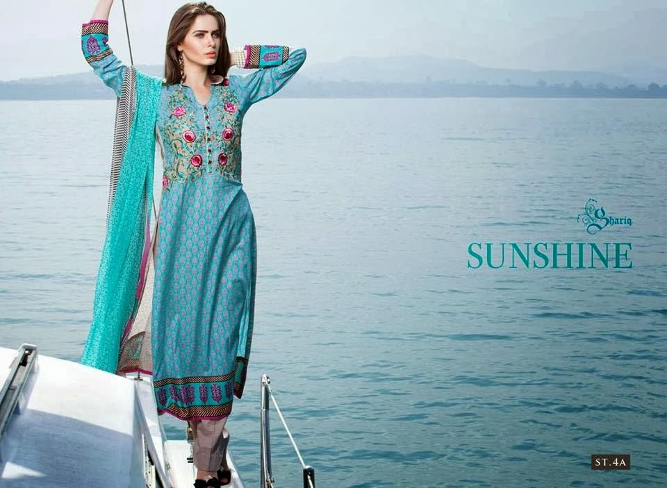 Charm Embroidered Lawn Suits 2014
