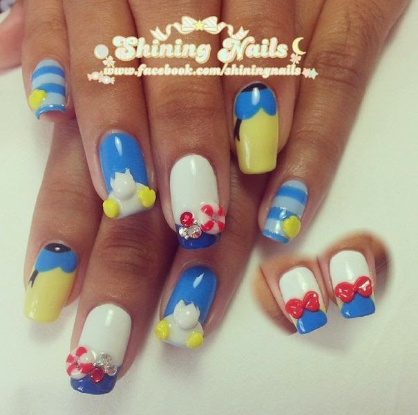 shiningnails-donald-duck-nailart