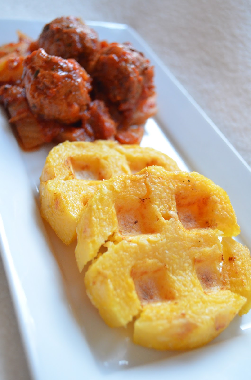 iron stef: chicken sausage balls with fennel and waffle ...