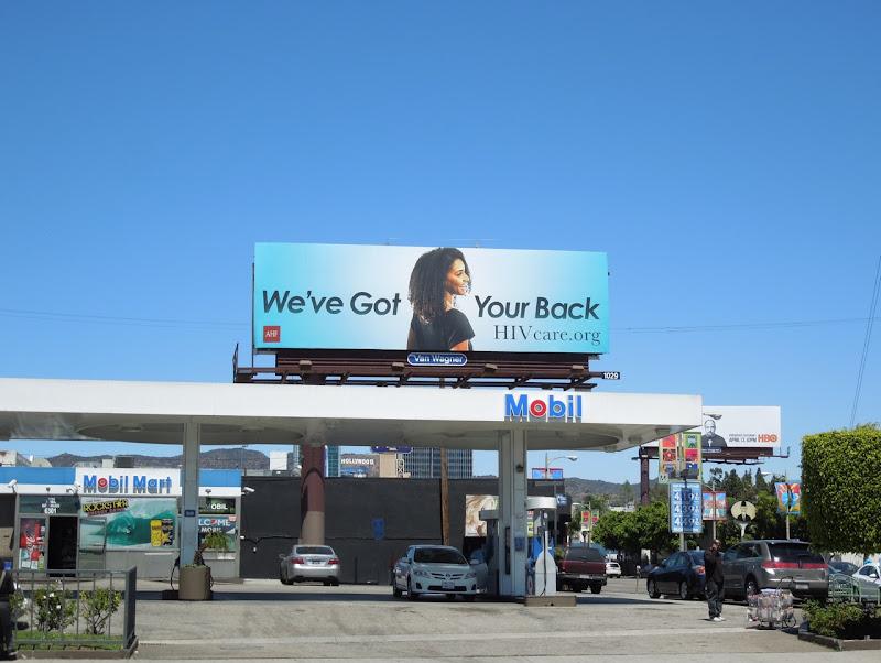 got your back HIV blue billboard
