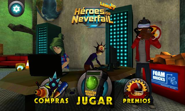 Novo Aplicativo do Cartoon Network 'Level Up:Heróis da NeverFail'