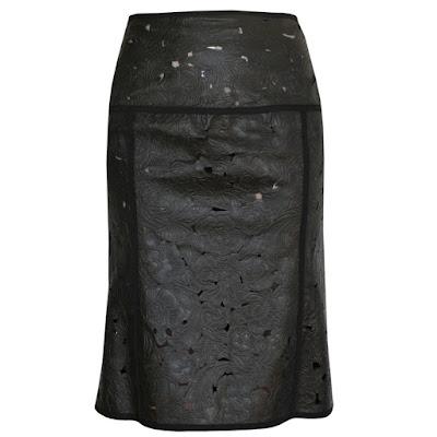 loewe madrid leather skirt