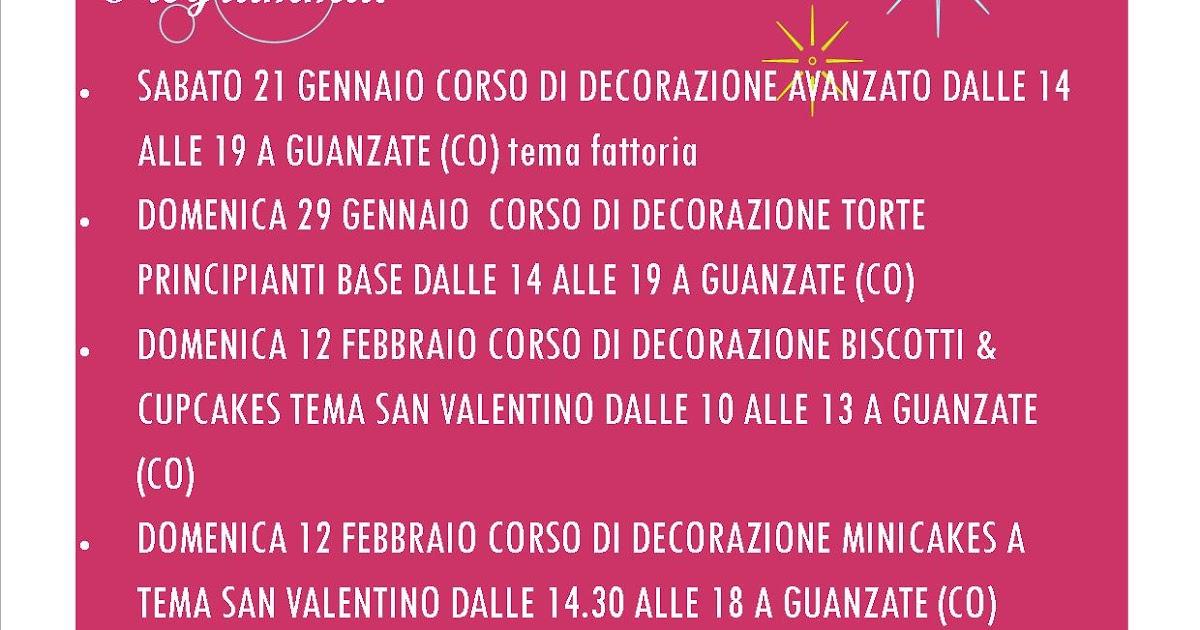 Corsi Di Cake Design Torino E Provincia : Calendario corsi di cake design 2012: torte, biscotti ...