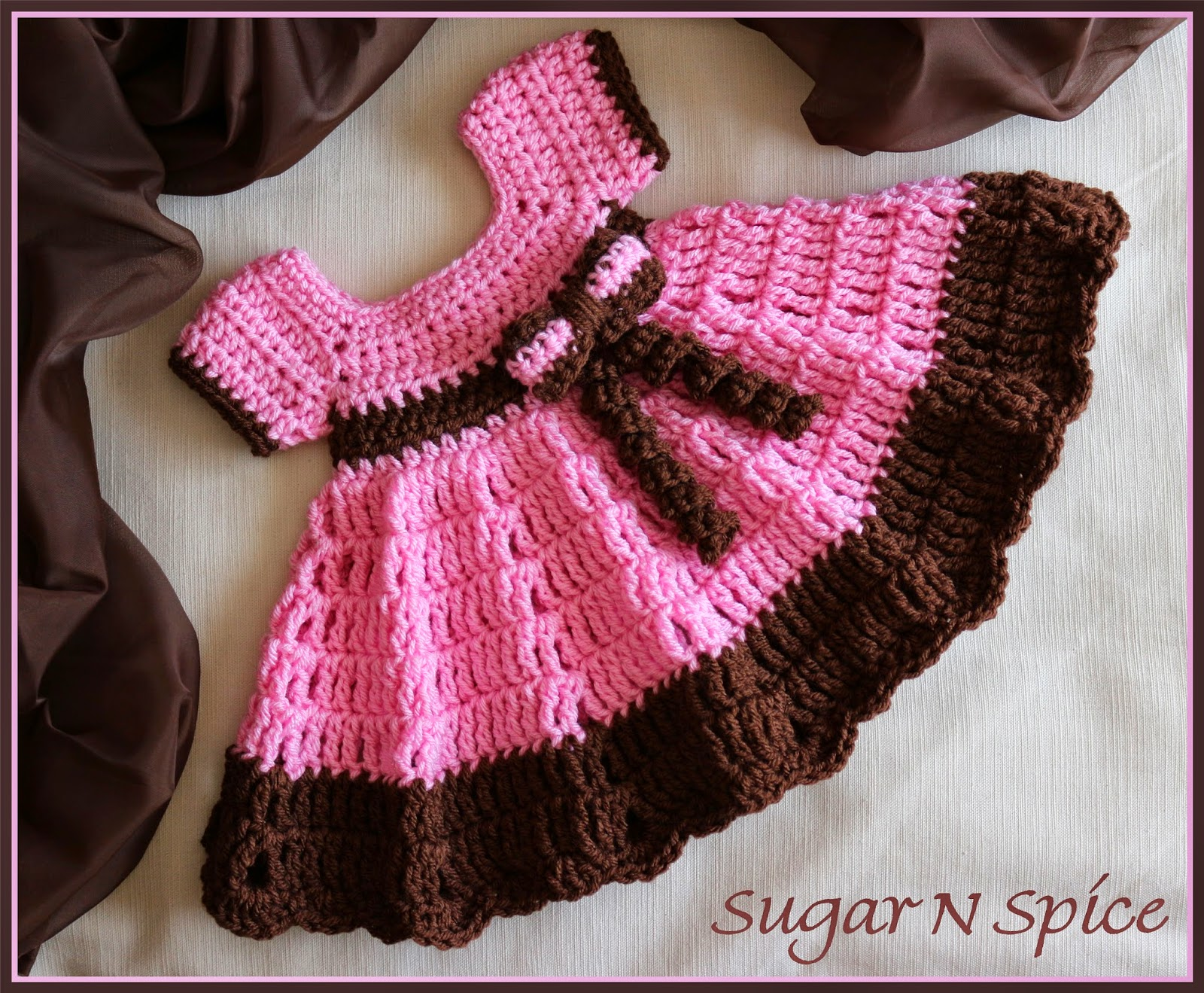 Free Crochet Pattern For Christmas Dress : Crochet Supernova: Sugar N Spice Dress ~FREE PATTERN~