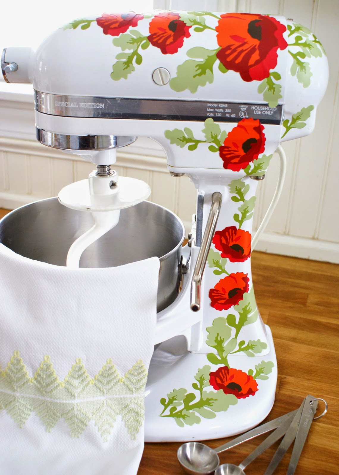 Pretty poppy Kitchenaid decals