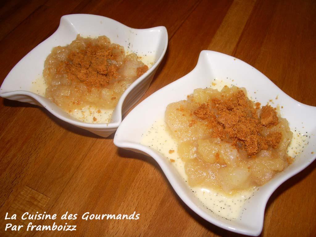 La cuisine des gourmands panna cotta pommes poires l for Agar agar cuisine