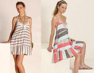 modelos de vestidos listrados curtos e longos para festas