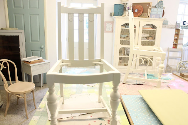 chair being painted