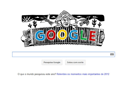 Google homenageia Luiz Gonzaga com Doodle