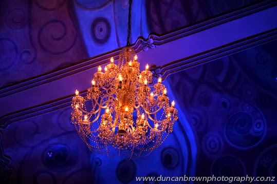 Complementary colours, a chandelier at Hawke's Bay Opera House, Hastings photograph