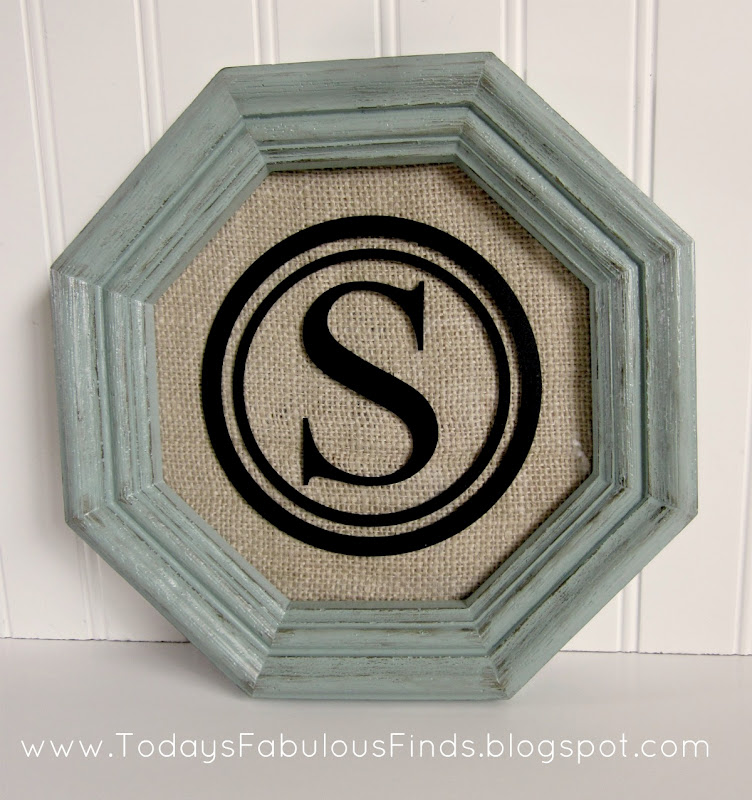 todays fabulous finds monogrammed thrift frame before and after - Monogrammed Picture Frames