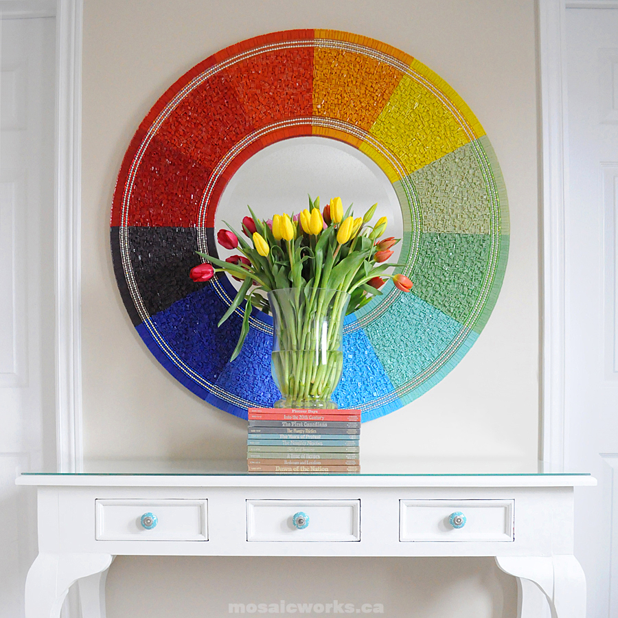 Mosaicworks glass tile rainbow mirror guest post for Diy mirror ideas