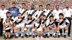 Time do Vasco Campeão Carioca em 1992. Detalhe : Edmundo e Roberto Dinamite no Ataque.