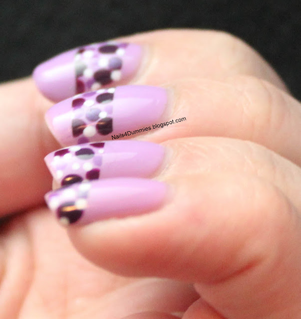 Nails4Dummies - Purple Polkadot Nails