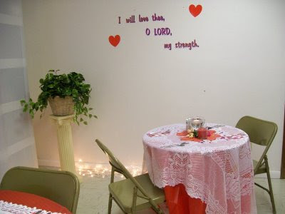 Valentine Romance Banquet Table Design