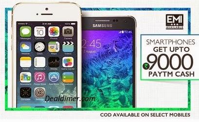 Mobiles Extra upto Rs. 9000 Cashback – PayTm