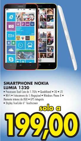 Miglior prezzo da Emisfero per il Nokia Lumia 1320