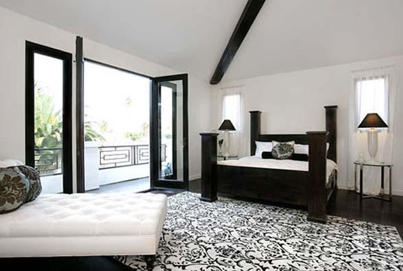 black and white bedroom beautiful black white