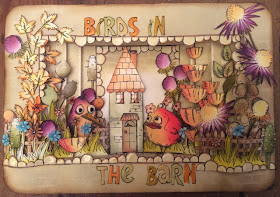 Tim Holtz Crazy Birds JOFY stamps Clare Charvill My Creative Spirit