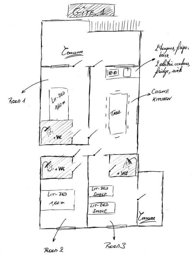 Gite des pyren es ibaremborde disposition des chambres - Disposition de chambre ...