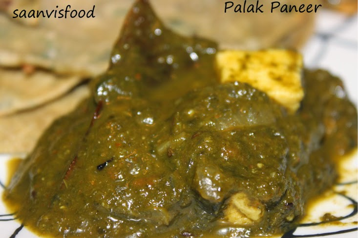 Palak  Paneer (Indian Cheese in Spinach Gravy)