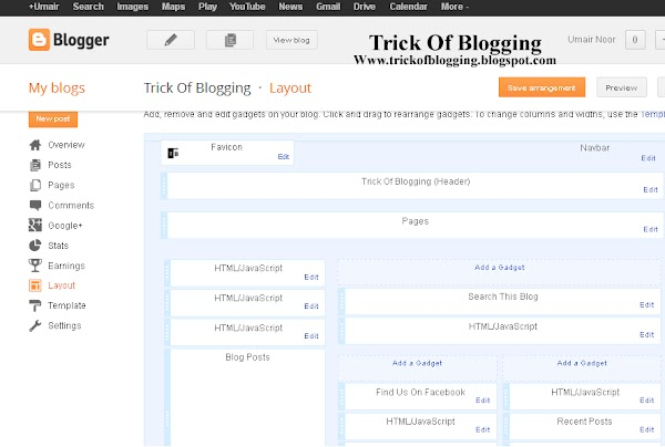 How Easliy/Simple To Manage Page Layout In Blogger Blogspot