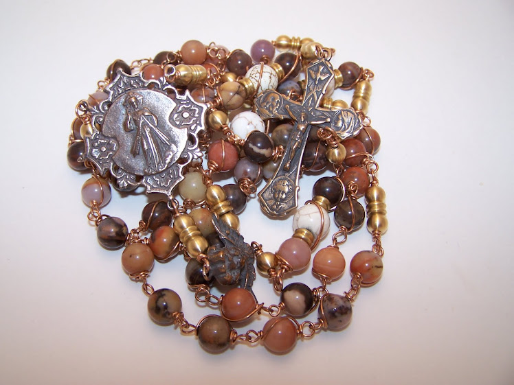 No. 29.  Rosary Of Divine Mercy/Holy Family- Custom Order- SOLD
