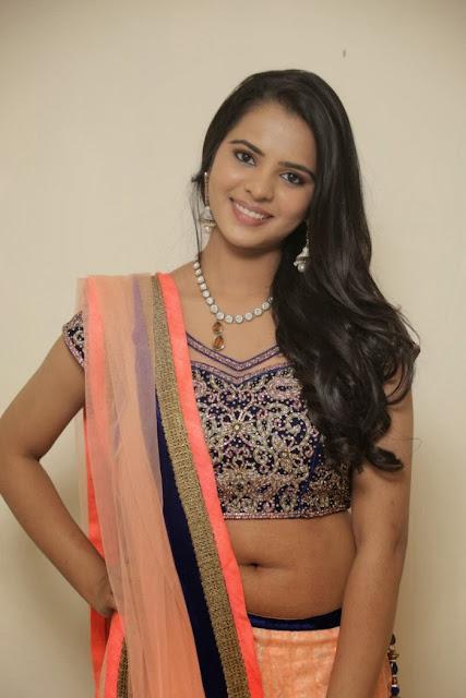 Telugu Actress Manasa Himavarsha Latest  Picture Gallery in Half Saree 0003.jpg